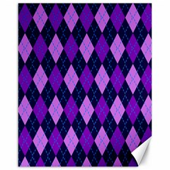 Plaid Triangle Line Wave Chevron Blue Purple Pink Beauty Argyle Canvas 16  X 20