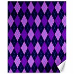 Plaid Triangle Line Wave Chevron Blue Purple Pink Beauty Argyle Canvas 16  x 20   20 x16 Canvas - 1