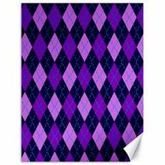 Plaid Triangle Line Wave Chevron Blue Purple Pink Beauty Argyle Canvas 18  x 24