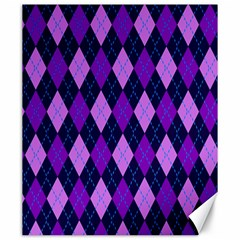Plaid Triangle Line Wave Chevron Blue Purple Pink Beauty Argyle Canvas 20  x 24