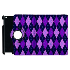 Plaid Triangle Line Wave Chevron Blue Purple Pink Beauty Argyle Apple iPad 2 Flip 360 Case