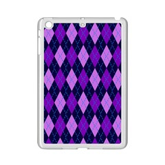 Plaid Triangle Line Wave Chevron Blue Purple Pink Beauty Argyle Ipad Mini 2 Enamel Coated Cases