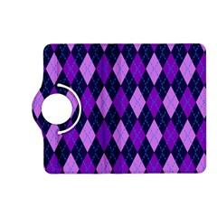 Plaid Triangle Line Wave Chevron Blue Purple Pink Beauty Argyle Kindle Fire HD (2013) Flip 360 Case