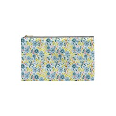 Flower Floral Bird Peacok Sunflower Star Leaf Rose Cosmetic Bag (Small)