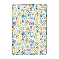 Flower Floral Bird Peacok Sunflower Star Leaf Rose Apple iPad Mini Hardshell Case (Compatible with Smart Cover)
