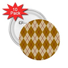 Plaid Triangle Line Wave Chevron Orange Red Grey Beauty Argyle 2.25  Buttons (10 pack)