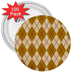 Plaid Triangle Line Wave Chevron Orange Red Grey Beauty Argyle 3  Buttons (100 pack)