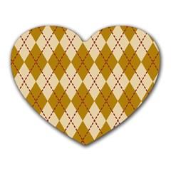 Plaid Triangle Line Wave Chevron Orange Red Grey Beauty Argyle Heart Mousepads