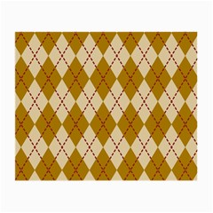 Plaid Triangle Line Wave Chevron Orange Red Grey Beauty Argyle Small Glasses Cloth (2-Side)