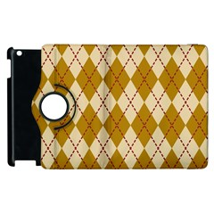 Plaid Triangle Line Wave Chevron Orange Red Grey Beauty Argyle Apple Ipad 3/4 Flip 360 Case