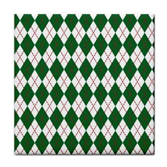 Plaid Triangle Line Wave Chevron Green Red White Beauty Argyle Tile Coasters