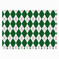 Plaid Triangle Line Wave Chevron Green Red White Beauty Argyle Large Glasses Cloth