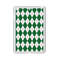 Plaid Triangle Line Wave Chevron Green Red White Beauty Argyle Ipad Mini 2 Enamel Coated Cases