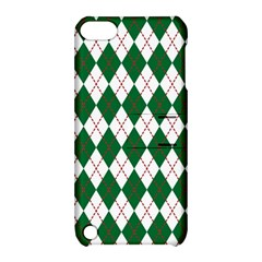 Plaid Triangle Line Wave Chevron Green Red White Beauty Argyle Apple iPod Touch 5 Hardshell Case with Stand