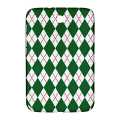Plaid Triangle Line Wave Chevron Green Red White Beauty Argyle Samsung Galaxy Note 8.0 N5100 Hardshell Case
