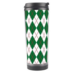 Plaid Triangle Line Wave Chevron Green Red White Beauty Argyle Travel Tumbler