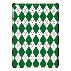 Plaid Triangle Line Wave Chevron Green Red White Beauty Argyle iPad Air Hardshell Cases