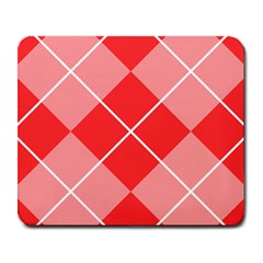 Plaid Triangle Line Wave Chevron Red White Beauty Argyle Large Mousepads