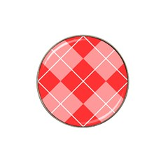 Plaid Triangle Line Wave Chevron Red White Beauty Argyle Hat Clip Ball Marker (10 pack)