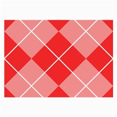 Plaid Triangle Line Wave Chevron Red White Beauty Argyle Large Glasses Cloth (2-Side)
