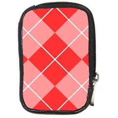 Plaid Triangle Line Wave Chevron Red White Beauty Argyle Compact Camera Cases