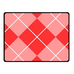 Plaid Triangle Line Wave Chevron Red White Beauty Argyle Fleece Blanket (Small)