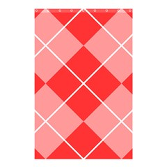 Plaid Triangle Line Wave Chevron Red White Beauty Argyle Shower Curtain 48  x 72  (Small)