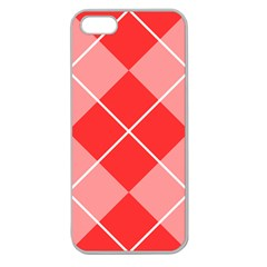 Plaid Triangle Line Wave Chevron Red White Beauty Argyle Apple Seamless iPhone 5 Case (Clear)