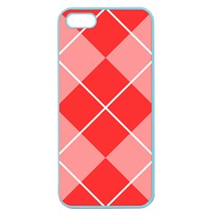Plaid Triangle Line Wave Chevron Red White Beauty Argyle Apple Seamless iPhone 5 Case (Color)