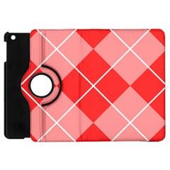 Plaid Triangle Line Wave Chevron Red White Beauty Argyle Apple iPad Mini Flip 360 Case