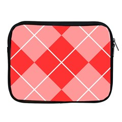 Plaid Triangle Line Wave Chevron Red White Beauty Argyle Apple Ipad 2/3/4 Zipper Cases