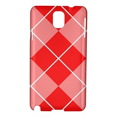 Plaid Triangle Line Wave Chevron Red White Beauty Argyle Samsung Galaxy Note 3 N9005 Hardshell Case