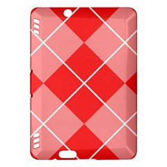 Plaid Triangle Line Wave Chevron Red White Beauty Argyle Kindle Fire HDX Hardshell Case