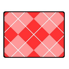 Plaid Triangle Line Wave Chevron Red White Beauty Argyle Double Sided Fleece Blanket (Small)