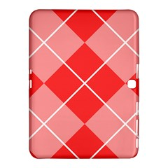 Plaid Triangle Line Wave Chevron Red White Beauty Argyle Samsung Galaxy Tab 4 (10.1 ) Hardshell Case