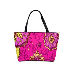 Pink Lemonade Flower Floral Rose Sunflower Leaf Star Pink Shoulder Handbags