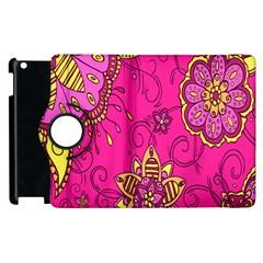 Pink Lemonade Flower Floral Rose Sunflower Leaf Star Pink Apple iPad 2 Flip 360 Case