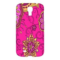 Pink Lemonade Flower Floral Rose Sunflower Leaf Star Pink Samsung Galaxy S4 I9500/I9505 Hardshell Case