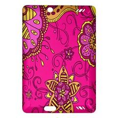 Pink Lemonade Flower Floral Rose Sunflower Leaf Star Pink Amazon Kindle Fire HD (2013) Hardshell Case