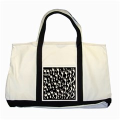 Population Soles Feet Foot Black White Two Tone Tote Bag