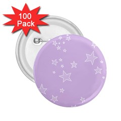 Star Lavender Purple Space 2.25  Buttons (100 pack)