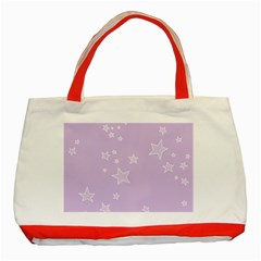 Star Lavender Purple Space Classic Tote Bag (Red)