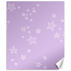 Star Lavender Purple Space Canvas 8  x 10