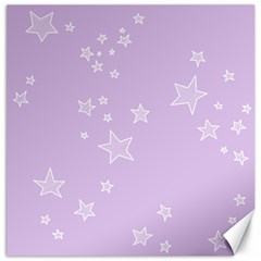 Star Lavender Purple Space Canvas 16  x 16