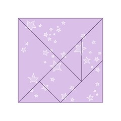 Star Lavender Purple Space Acrylic Tangram Puzzle (4  x 4 )