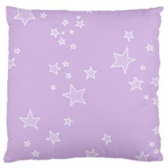 Star Lavender Purple Space Large Cushion Case (one Side)
