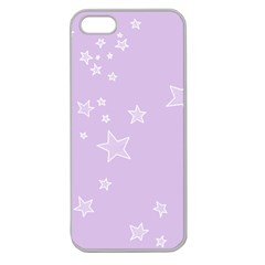 Star Lavender Purple Space Apple Seamless iPhone 5 Case (Clear)
