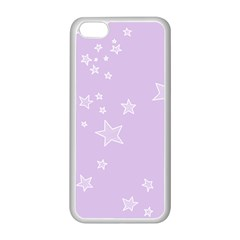 Star Lavender Purple Space Apple iPhone 5C Seamless Case (White)