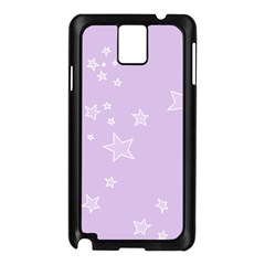 Star Lavender Purple Space Samsung Galaxy Note 3 N9005 Case (Black)