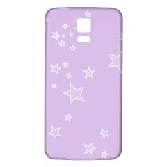 Star Lavender Purple Space Samsung Galaxy S5 Back Case (White)